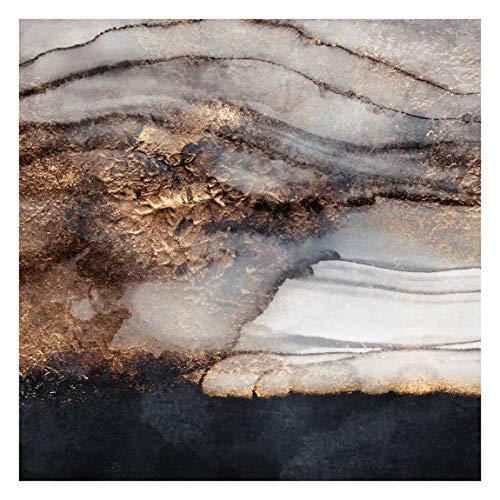 Bilderwelten Fototapete Vlies - Goldener Marmor gemalt - Vliestapete Quadrat 240 x 240cm