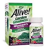 Nature's Way Alive! Garden Goodness Women's Multivitamin, Made with Organic Kale, 60 Tablets
