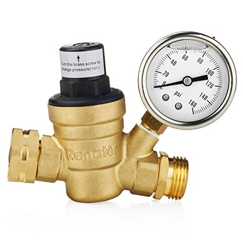 Renator M11-0660R Water Pressure Regulator Valve. Brass Lead-free Adjustable Water Pressure Reducer...