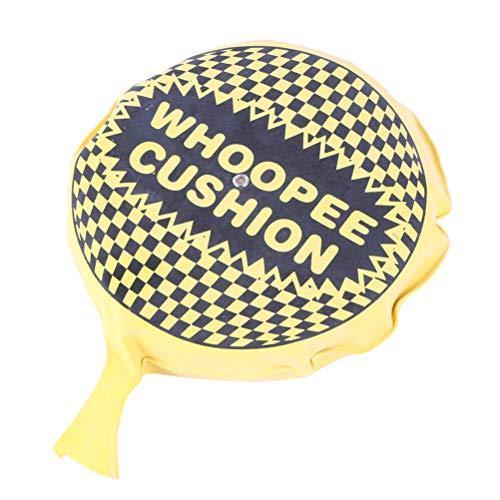 BESTOYARD Self-Inflating Whoopee Cushion Makes Fart Sound Hygienic Funny Prank Gag Gift Joke Farting Toy 25CM (Random Color)