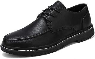 CAIFENG Moda para Hombre Oxford Casual Cómodo Color Pure Pure Color Simple Zapatos Formales (Color : Black, Size : 38 EU)