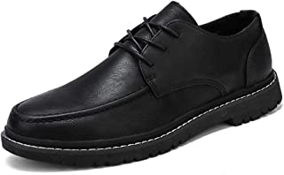 2019 Mens New Lace-up Flats Men's Casual Comfortable Simple Fashion Oxford Pure Color Lace-up Formal Shoes