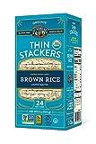 Lundberg Organic Thin Stackers, Lightly Salted, 6oz, Gluten-Free, Vegan, USDA Certified Organic, Non-GMO Verified, Kosher, Whole Grain Brown Rice
