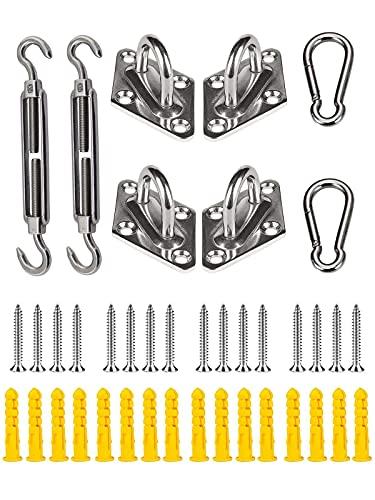 Shade Sail Hardware Kit, 304 Stainless Steel Sunshade Canopy Hardware Kit...