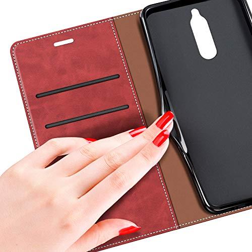 MOBESV Handyhülle für Huawei Mate 10 Lite Hülle Leder, Huawei Mate10 Lite Klapphülle Handytasche Case für Huawei Mate 10 Lite/Huawei Mate10 Lite Handy Hüllen, Modisch Rot - 6