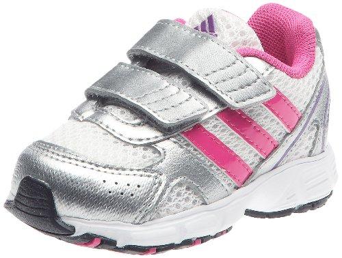 Adidas HyperRun 5 CF I, Calzado de Deporte para niño, Blanco (Blanc/Rose Intense/Argent métallique), 25