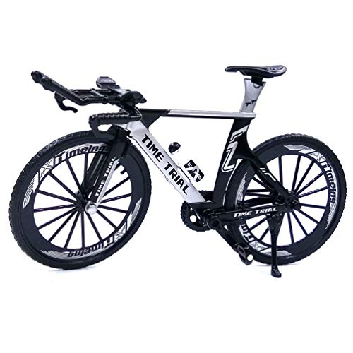Ailejia Alloy Mini Finger Mountain Bikes Racing Bicycle Toy Mini Bicycle Vehicles Model Decoration Crafts for Home (Black)