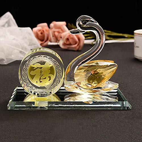 KIU Trim Accessoire Auto Interieur Dashboard Decoratie Zonder Parfum Car-styling Auto Ornament Kristal Zwaan Parfum Stoel Geur