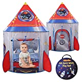 Kidoodler Rocket Ship Pop Up Kids Tent for Boys and Girls, Spaceship Pretend Playhouse Tent for Baby Toddlers, Imaginative Activity Game Gift