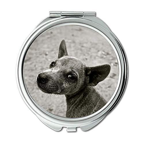 Yanteng Spiegel, Reise-Spiegel, Hund Welpe Kleiner Hund Junger Hund Haustier Tiere, Taschenspiegel, tragbarer Spiegel
