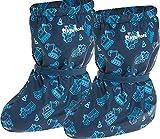 Playshoes Cubrebotas de Lluvia con Forro Obras, Cubrecalzado Impermeable Unisex niños, Azul (Marine 11), Small EU