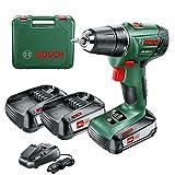Bosch PSR 1800 LI-2 Drill ohne Schlüssel Grün 1,2 kg – Elektro-Bohrschrauber 1 cm, 3 cm, 38 Nm, 18 Nm, 400 U/min, 1350 RPM
