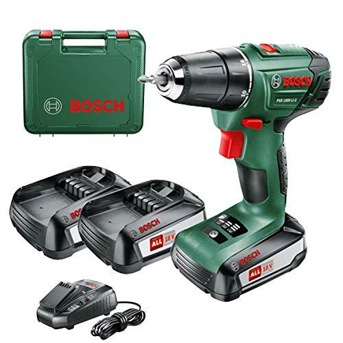 Bosch PSR 1800 LI-2 drill Ohne Schlüssel Grün 1,2 kg - Drills (1 cm, 3 cm, 38 Nm, 18 Nm, 400 RPM, 1350 RPM)