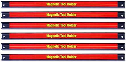 Cuasting 6 stuks 20cm/8 inch magnetische gereedschapshouderstaaf, ruimtebesparend en stevig opbergrek met wandmontage schr...