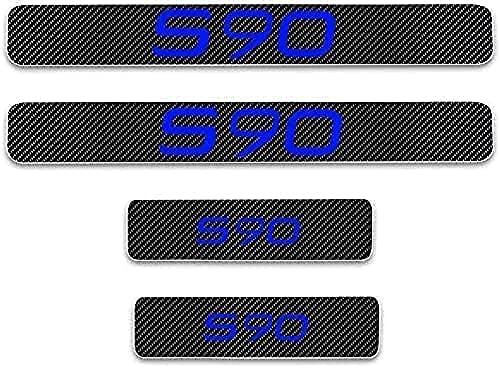 4pcs Car Porta Auto Battitacco Sill Sticker per Volvo s90, Anti-Scratch Decalcomania Auto Tuning Accessori