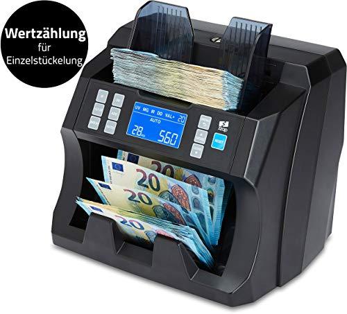 ZZap NC25 Banknotenzähler & Falschgeld-Detektor - Geldzählmaschine Geldzähler Banknotenzählmaschine