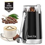 Kaffeemühle,150W Elektrische Kaffeemühle,Coffee Bean Grinder für Kaffeebohnen Nüsse Gewürze Getreide und Gewürz mit Edelstahlmesser 45g Fassungsvermögen Nussmühle