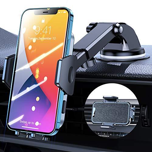 VICSEED Soporte de teléfono móvil para coche, calidad militar, ventosa, salpicadero, ventilación,...
