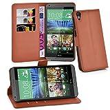 Cadorabo Hülle für HTC Desire 820 - Hülle in Schoko BRAUN – Handyhülle mit Kartenfach & Standfunktion - Case Cover Schutzhülle Etui Tasche Book Klapp Style