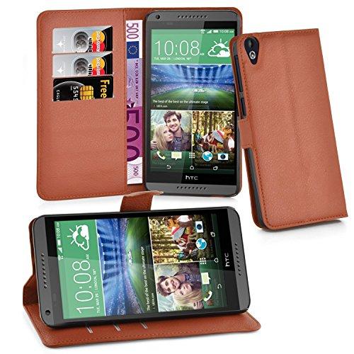 Cadorabo Hülle für HTC Desire 820 in Schoko BRAUN - Handyhülle mit Magnetverschluss, Standfunktion & Kartenfach - Hülle Cover Schutzhülle Etui Tasche Book Klapp Style