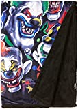 Liquid Blue Men's Fantasy Colored Clowns Classic Coral Fleece Throw Blanket, multi, 50' X 60'