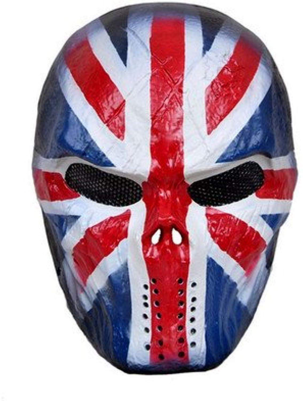 OM(TM) The Union Jack Skull Airsoft Mask