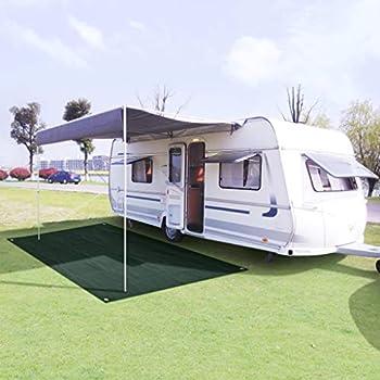 vidaXL Tapis de Tente Tapis de Camping Caravane Tapis de Patio Tapis d'Extérieur Tapis de Plage Jardin Terrasse Voyage 300x600 cm PEHD