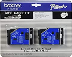 """Laminated Label ½"""" (12mm) wide by 25' 2 Labels Per Pack Genuine Brother Product Used in the following Brother P-touch Label Makers:  PT-III,  PT6,  PT8,  PT10,  PT12,  PT12N,  PT15,  PT20,  PT25,  PT150,  PT170K,  PTGOLD"""