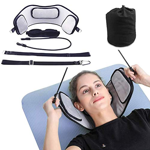 JBTM Head Traction Hammock for Neck Head Pain Relief with Adjustable Straps Portable Cervical Stretcher Device