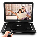 "Pyle 17.9"" Portable DVD Player, With 15.6 Inch Swivel Adjustable Display Screen, USB/SD Card Memory Readers, Long Lasting Built-in Rechargeable Battery, Stereo Sound with Remote. (PDV156BK)"