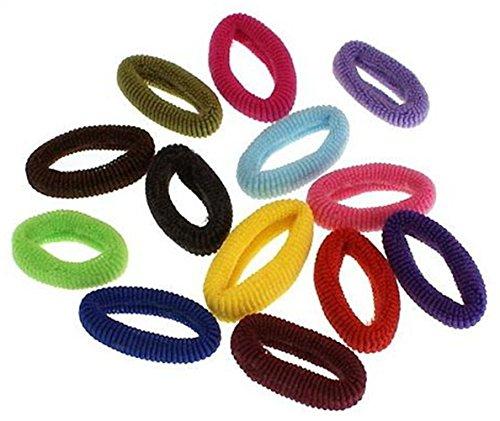 cuhair (TM) femmes fille 10 (couleur mixte) haute élastique bandes élastiques en caoutchouc corde de queue de cheval de cheveux accessoires couleur bonbon