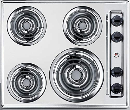 Top 10 Best 24 in. coil top electric cooktop in chrome with 4 elements Reviews