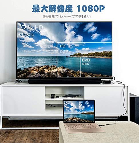 『HDMI to VGA変換ケーブル金メッキ1080P HDMIオスto VGAオスアクティブなビデオ変換コード( 6フィート/ 1.8メートル)』の4枚目の画像