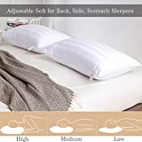 2 Pack Adjustable Bed Pillows for Sleeping - Down Alternative Hotel Pillows