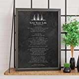 Torenio Live Your Life | Chief Tecumseh | Poem | Illustrated | Blackboard | Advice | Motivation | Inspiration | Print | Wall Art | Poster - Great Gift 11x17 16x24 24x36 Inch (No Frame)