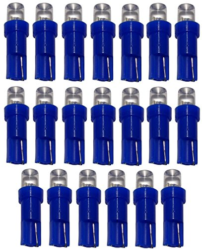 AERZETIX: 20 x Bombillas T5 24V LED azul para salpicadero de camion semirremolque