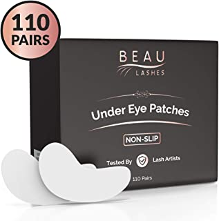 110 Pairs Under Eye Pads for Lash Extensions - Lint Free Hydrogel Eye Patches with Vitamin C & Moisturizing Aloe Vera For Eyelash Extension & Lash Lift - Professional Esthetician Gel Undereye Eyepads