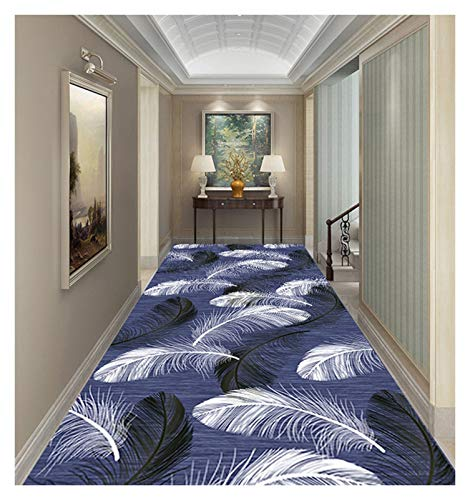 ditan XIAWU Moderner Wohnzimmerteppich Schlafzimmer Gang Läufer rutschfest Kann Geschnitten Werden (Color : A, Size : 100x400cm)