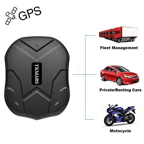 Tkmars Gps Tracker Standby di 3 Mesi Tracking in Tempo Reale Localizzatore Satellitare Impermeabile Antifurto Gps Finder Geo-fence Forte Magnete Controllo dell'app per Auto Camion Sim Card Tkmars