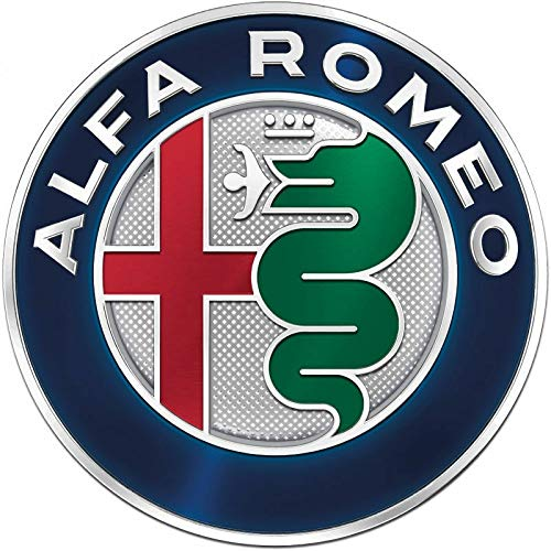 IGGY Escudo Fregio Emblema Logo Compatible 74 mm a Colores 145 146 147 156 159 Giulietta Mito