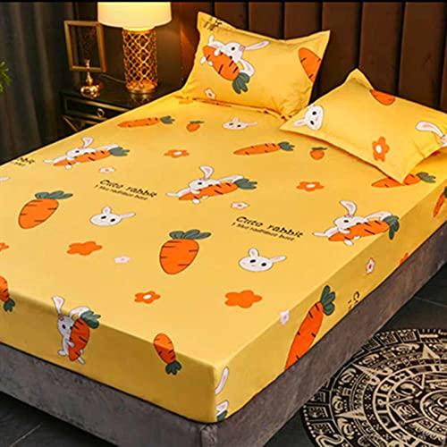 CYYyang Protector de colchón/Cubre colchón Acolchado de Fibra antiácaros, Transpirable, Impresión de sábana Impermeable Todo incluido-14_120 * 200cm