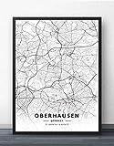 Leinwand Bild,Deutschland Oberhausen Stadtplan Einfache