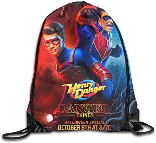 engzhoushi Mochila de Cuerda,Bolsa de Cuerdas Drawstring Bag Portable Travel Daypack Gym Bag Danger TV Show of Henry
