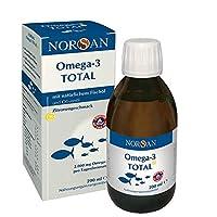 Omega-3 Total Zitrone (200ml) - flüssiges Omega-3 Öl/Fischöl - 2.000 mg Omega-3 pro Portion