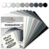 MarpaJansen Fotokarton 10 Grauton Farben, DIN A4, 30 Bogen, 300 g/qm