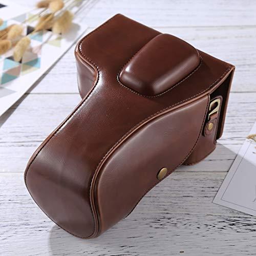 De enige goede kwaliteit Fashion Convenience duurzame Full Body Camera PU lederen Case Bag voor Nikon D5300 / D5200 / D5100 (18-55mm / 18-105mm / 18-140mm Lens) Pretty, Koffie