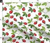 Spoonflower Stoff – Aquarell Erdbeeren Natur Frühling