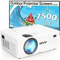 MVV MV01 1080P 200 ANSI Mini Portable Projector with 100