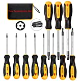 Magnetic Torx Screwdriver Sets,Multi-function Screwdriver Tool Kit with T5 T6 T7 T8 T9 T10 T15 T20 T25 T27 T30 for Projects,Electronics,Furniture,Automotive,Machine Repairing (11-Piece) by KAKO