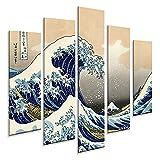 Giallobus - 5 Multi Pannello Art Board - Hokusai - La Grande Onda di Kanagawa - Pannello PVC - 140x100